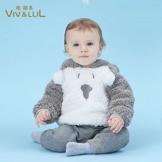 2020 fashion Baby Lambs wool winter wear thickened pullovers