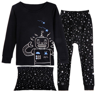 VIV & LUL boy's 3-pack pajama set (top/bottom & cushion cover)